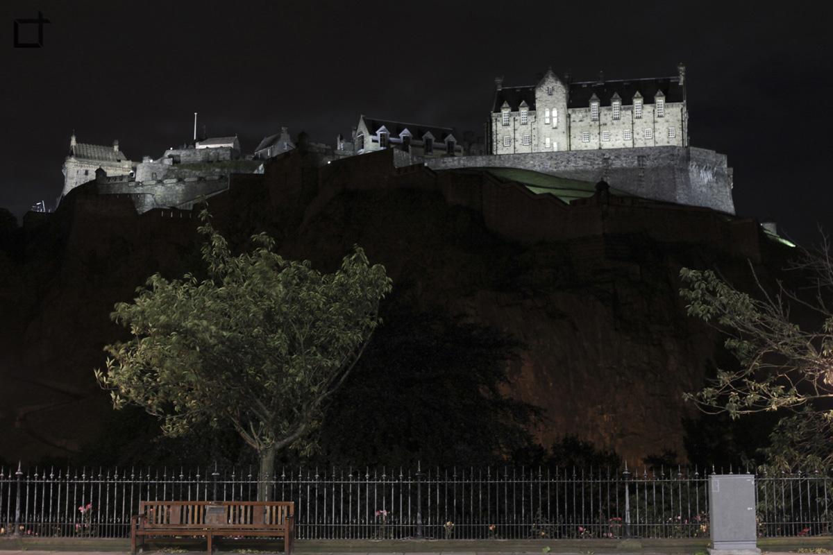 Scozia_Edimburgo_Castello_Sera