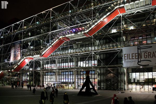 Centre Pompidou Struttura