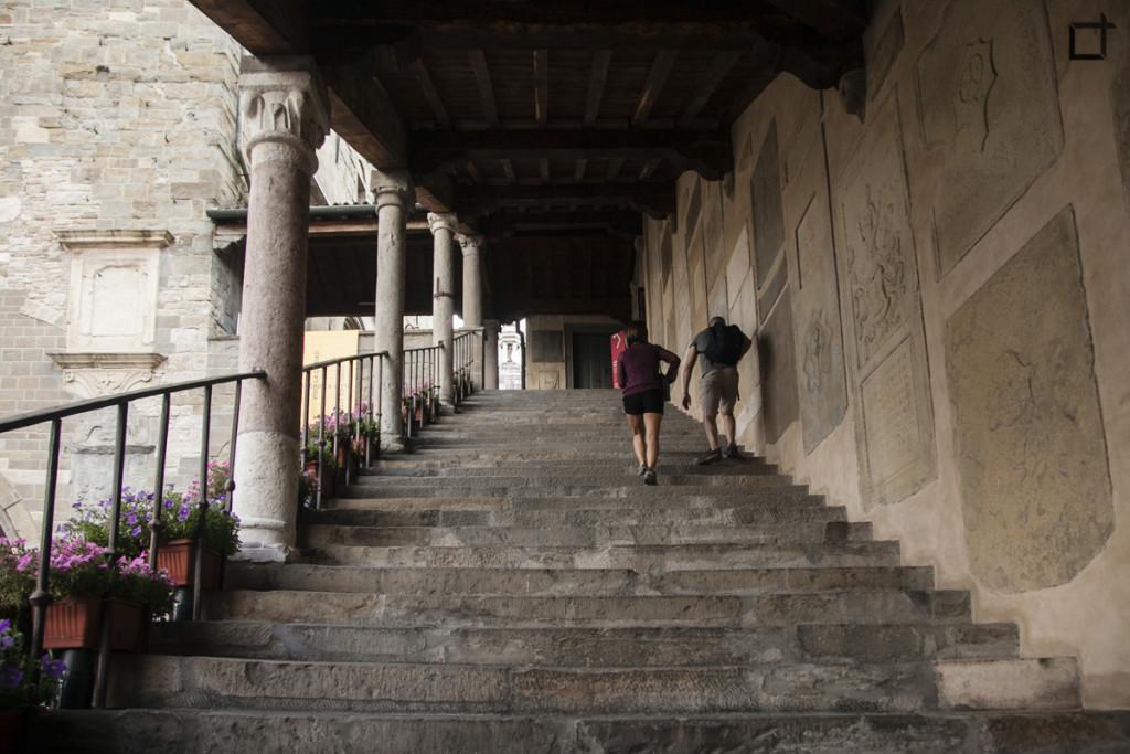 Bergamo Scala Palazzo della Ragione