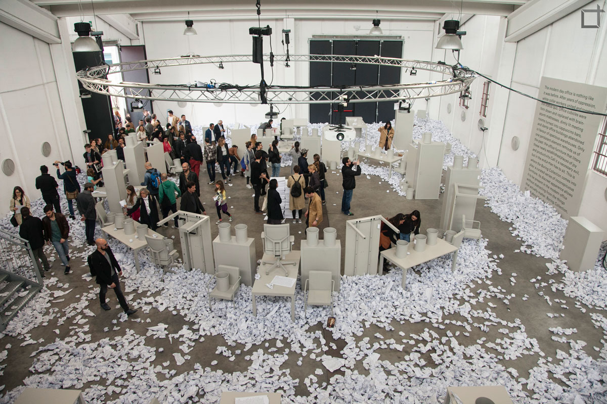 Blensvelt Fogli Carta Fuori Salone 2016