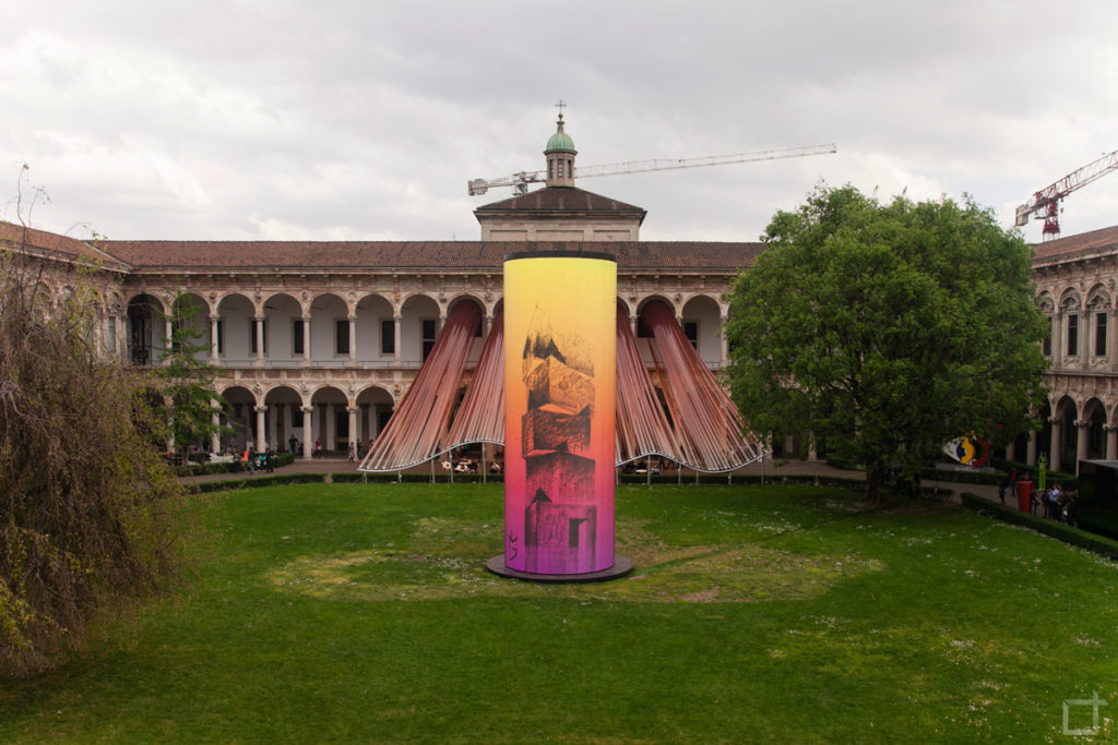Invisible Border Torre Led Universita Statale Milano