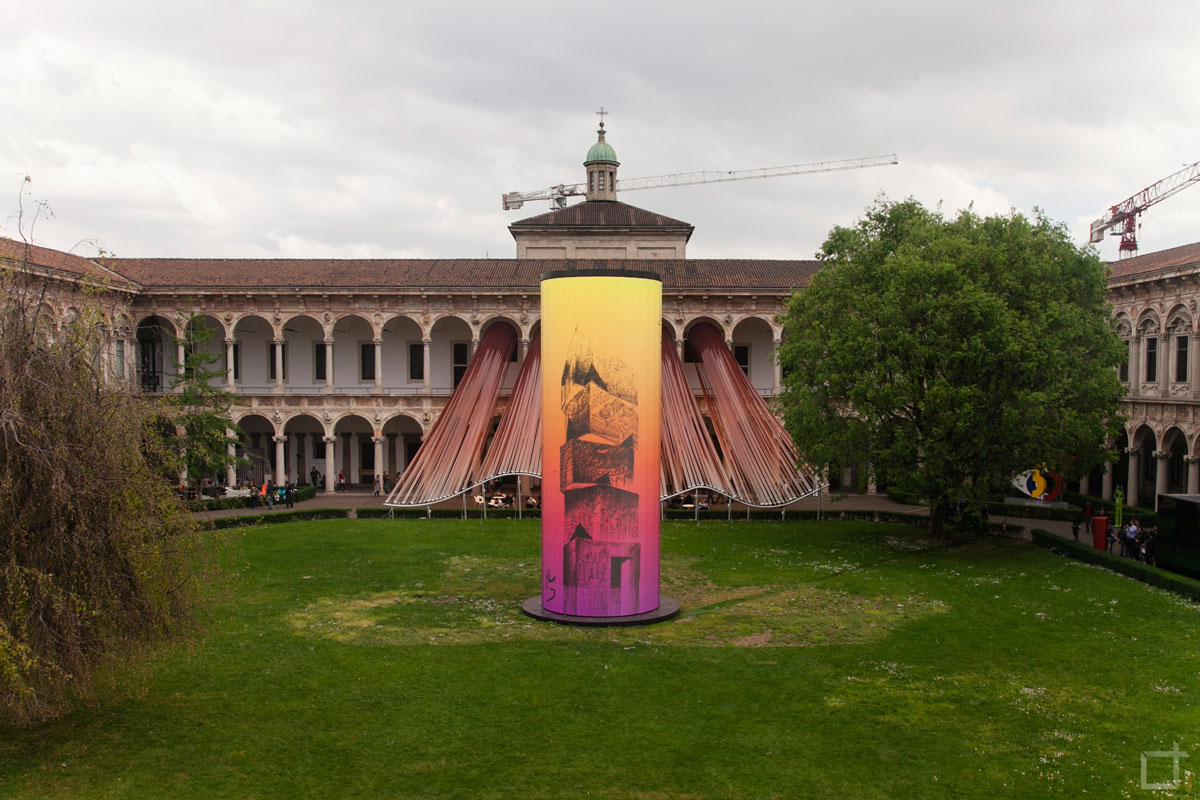 Invisible Border Torre Led Universita Statale Milano