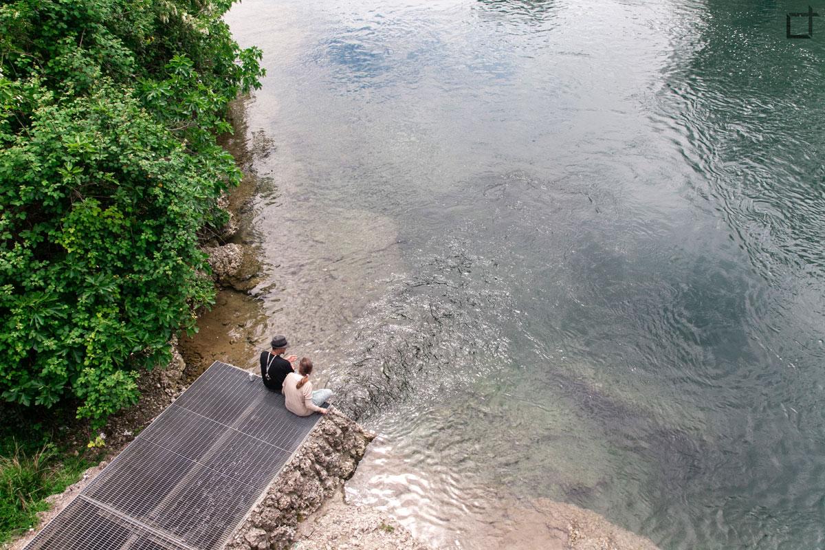 innamorati sul fiume adda