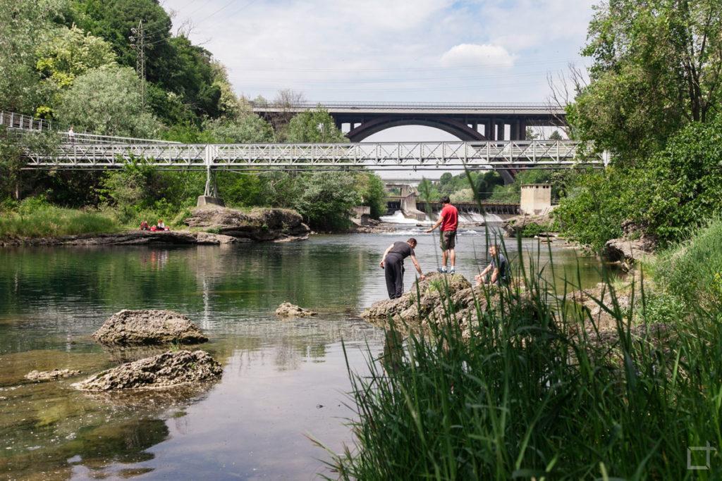 pescatori sul fiume adda