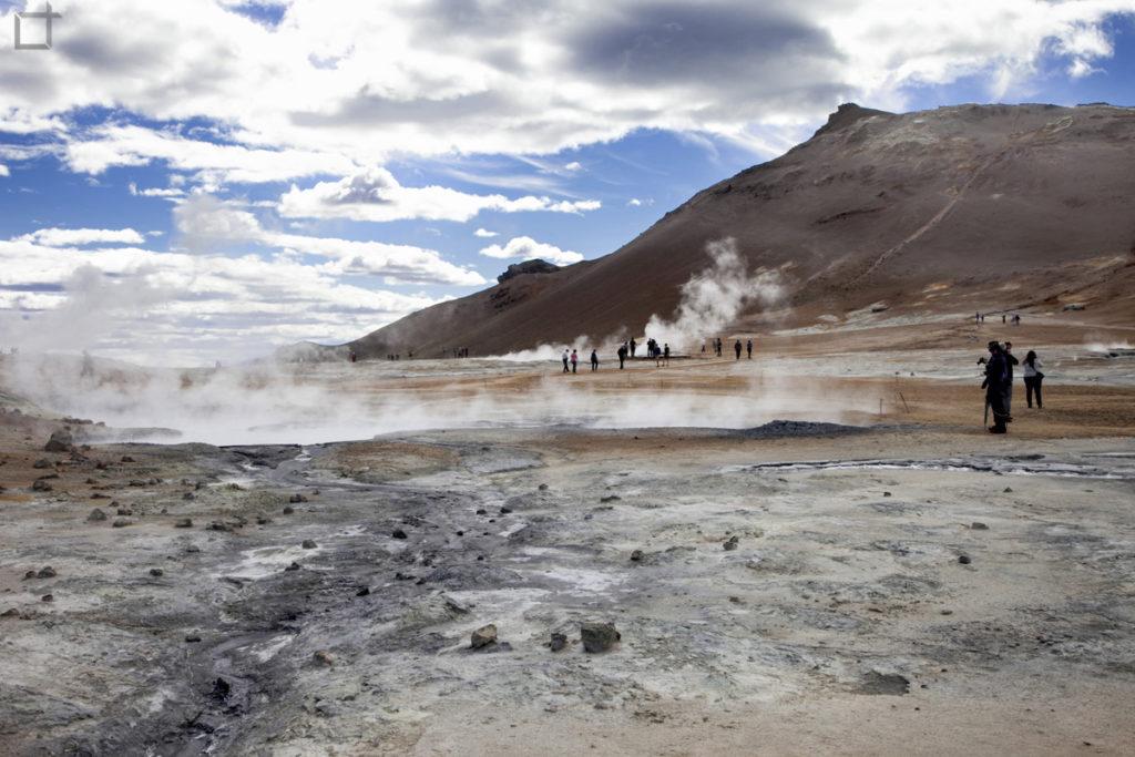 Area geotermica Hverir Islanda