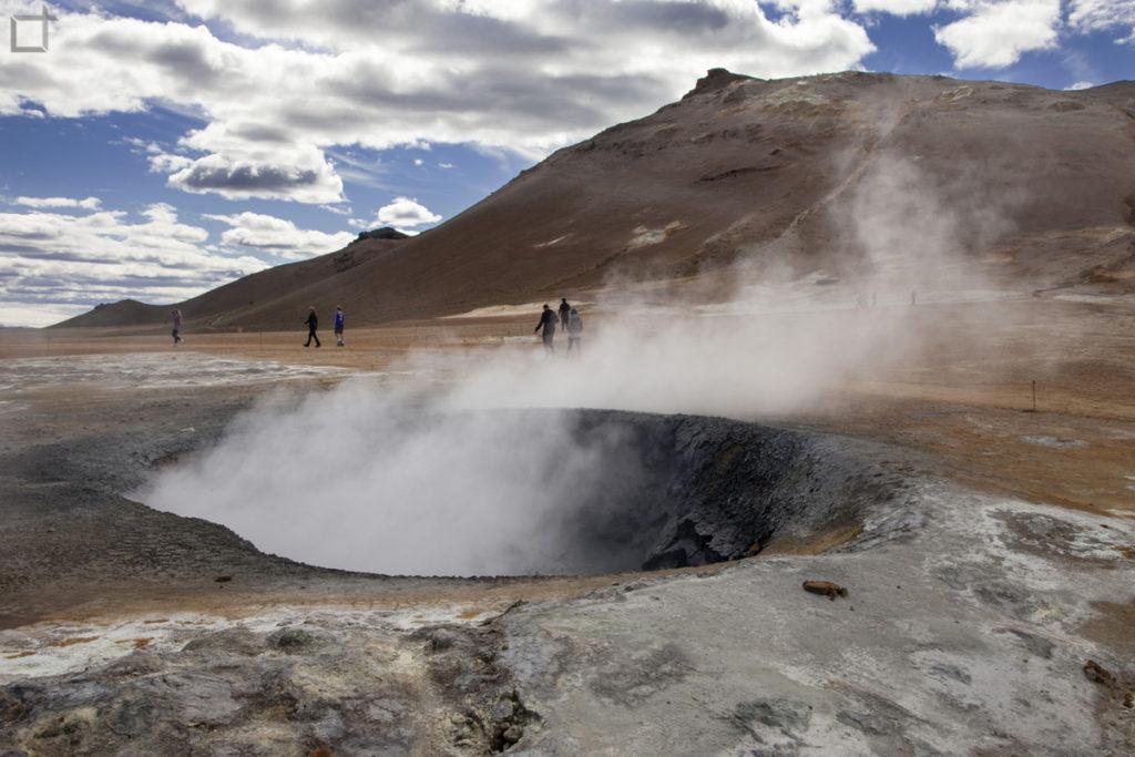 Caldera geotermale sorgente di vapore