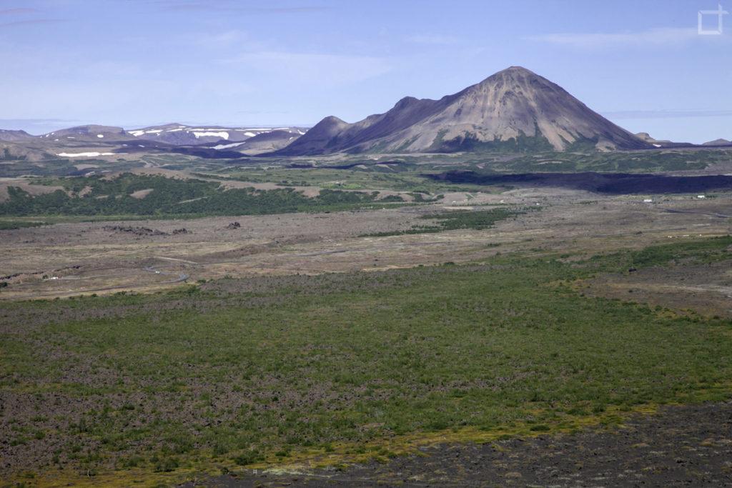 campi di lava dal vulcano