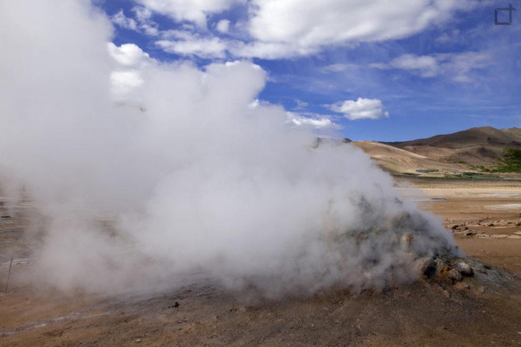 fumo bianco - vapore e gas Islanda