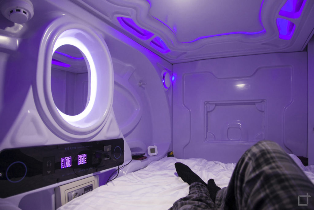 Galaxy Pod Hostel - dentro un pod