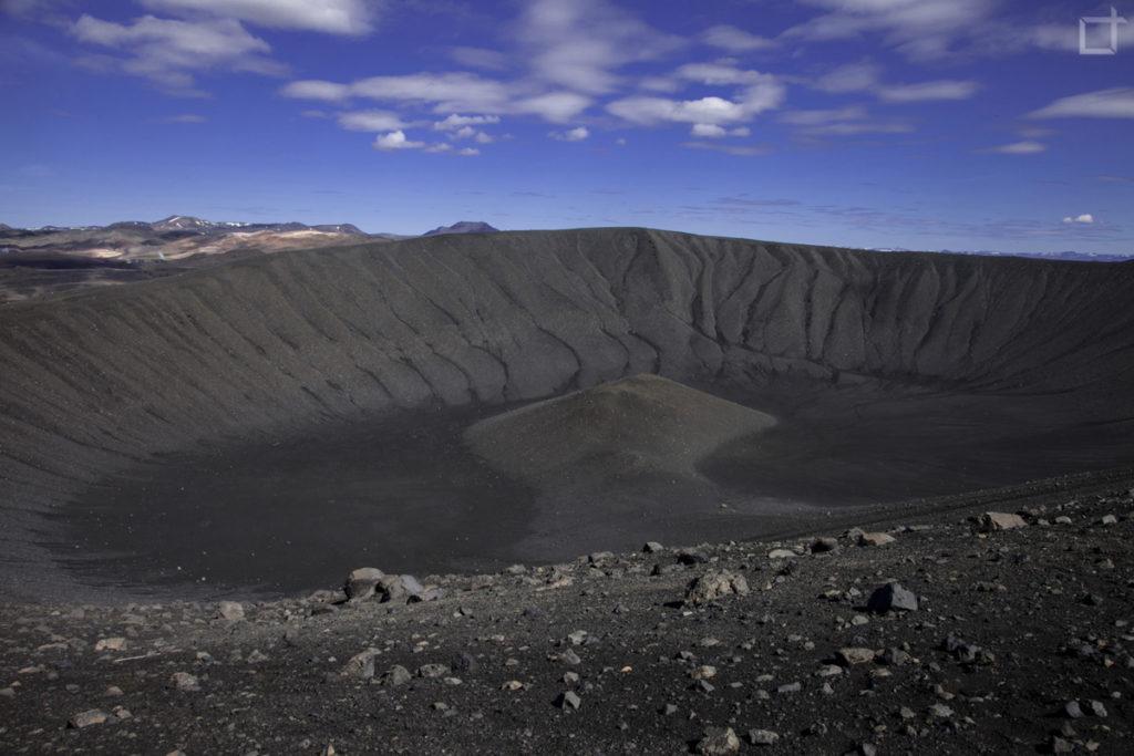 interno del vulcano Hverfjall