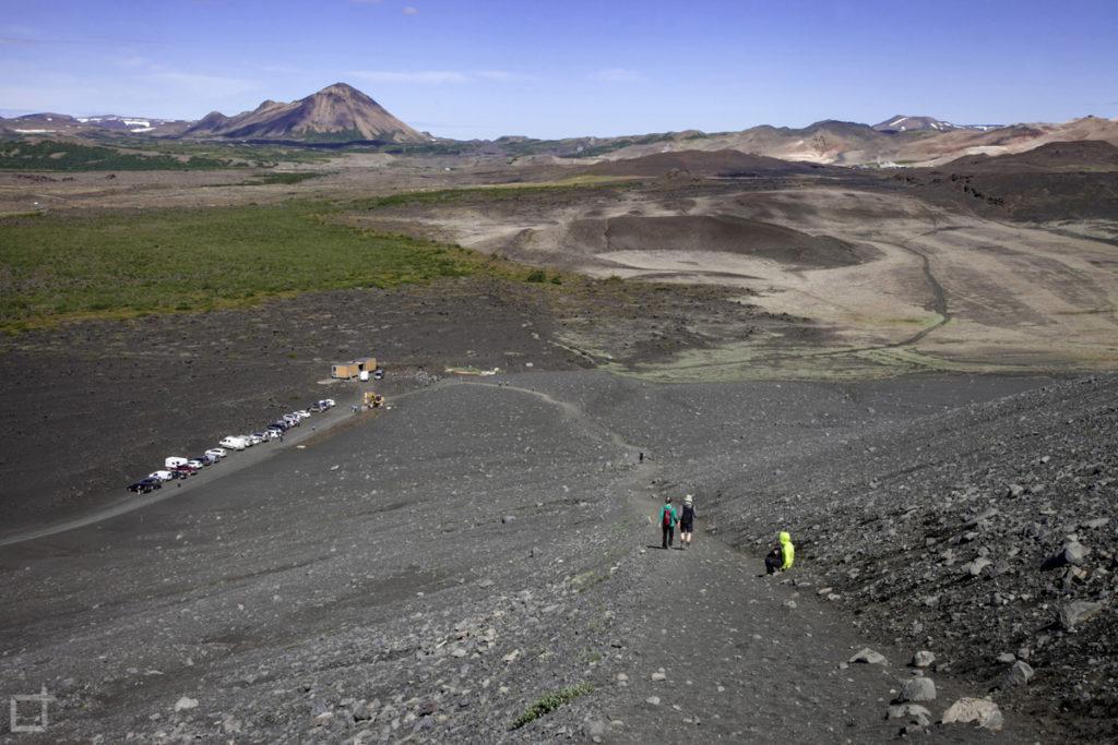 panorama da vulcano - Hverfjall