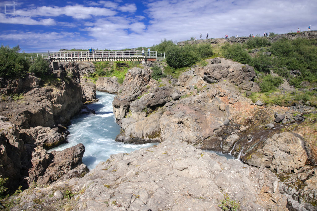 ponte sulle cascate islanda - Fiume Hvita