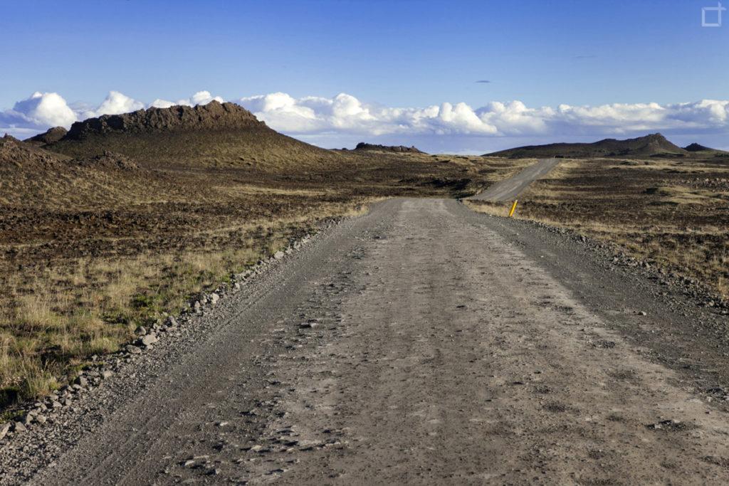 Strada Sterrata Islanda Lungo il Canyon di Asbyrgi