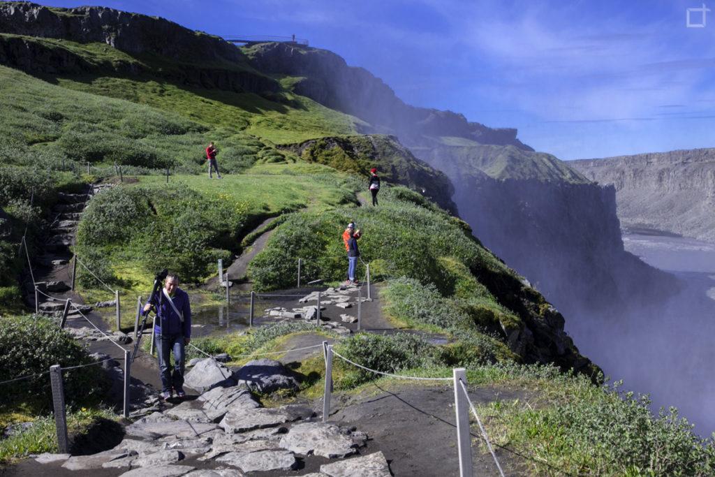 Vapore Cascata Islanda