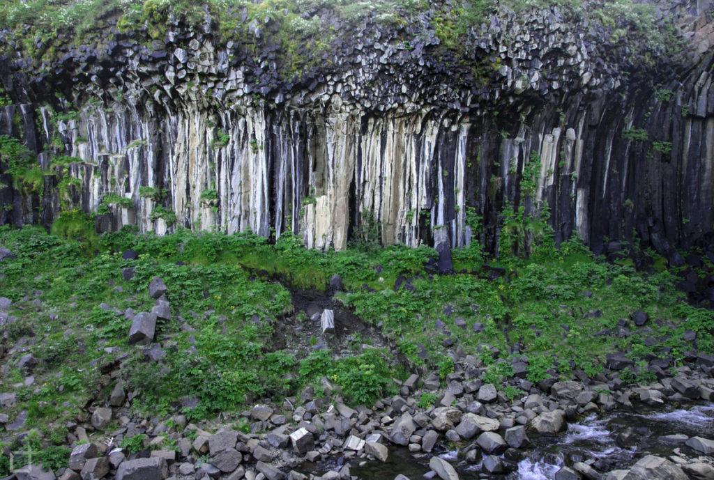 Colonne di Basalto alla Cascata Islandese
