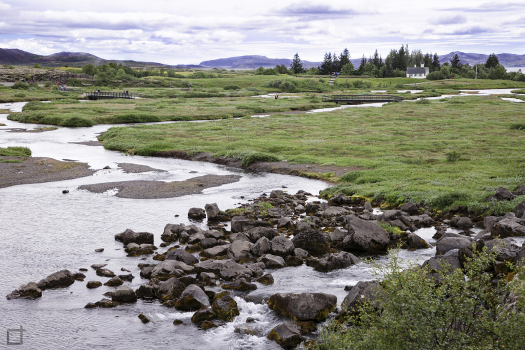 Fiume Oxara Antico Parlamento Islandese Althing