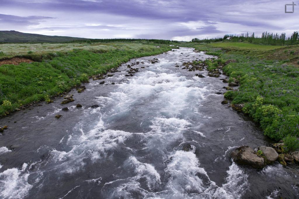Fiume nel centro dell Islanda