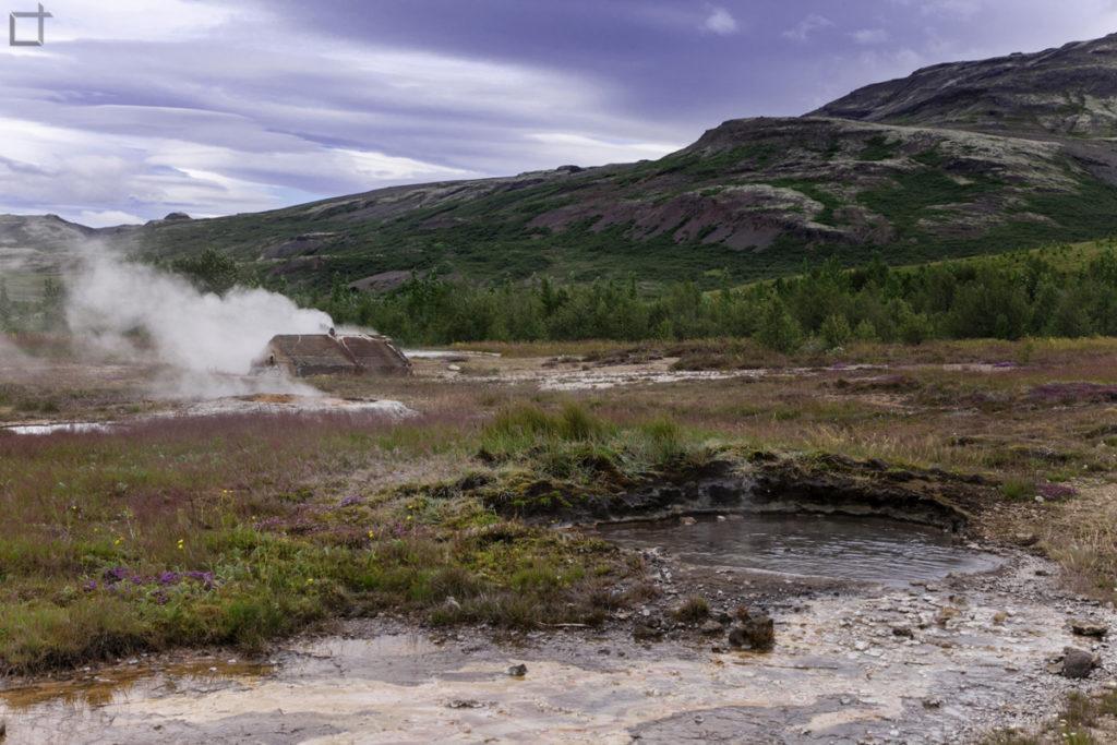 Geyser nel suolo Islandese