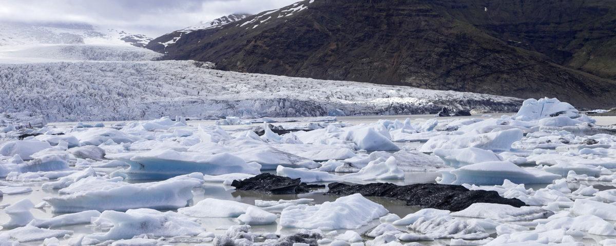 Iceberg e vulcano Orafajokull