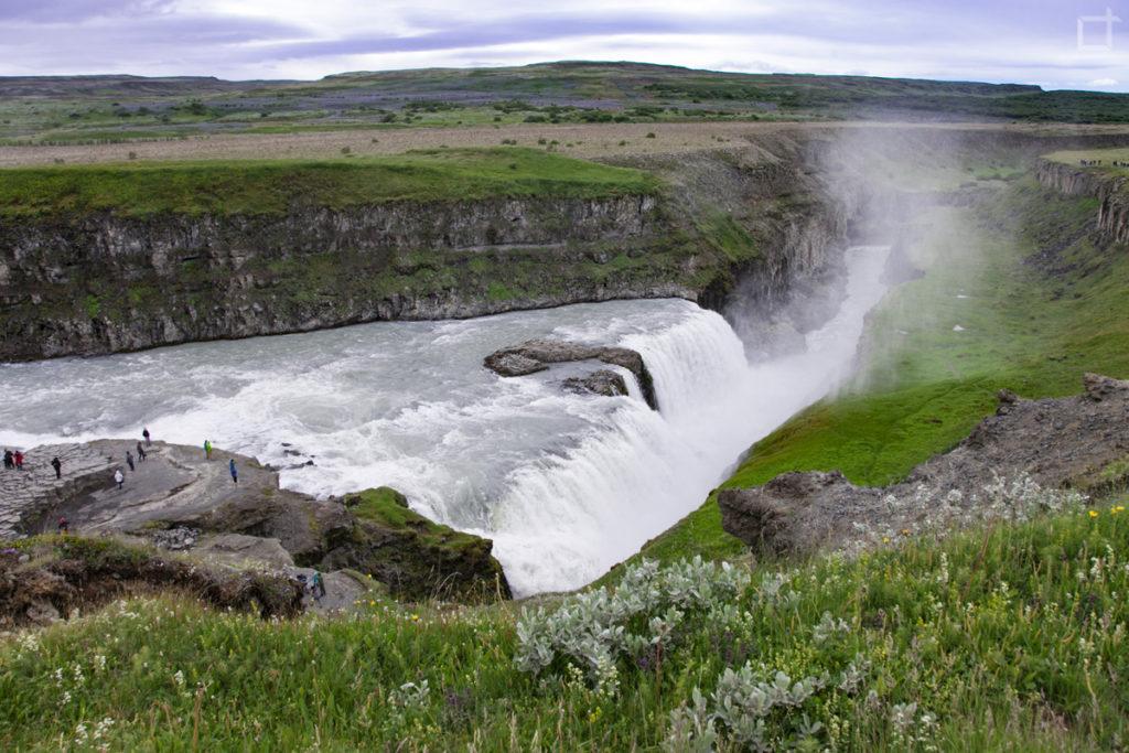 Islanda Cascata Gullfoss salto 21 metri