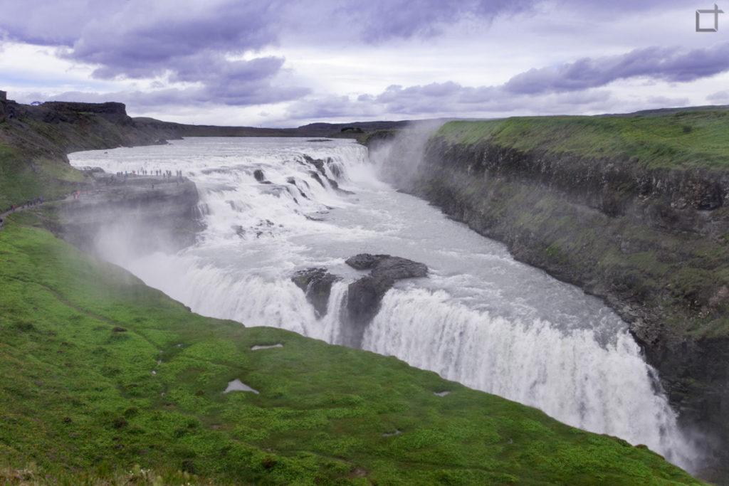 La spettacolare cascata d'oro Islanda