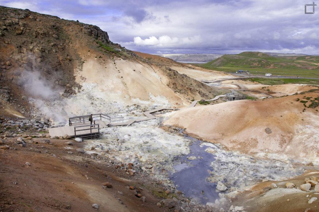 La terra che Fuma in Islanda sorgenti di Krysuvik Seltun