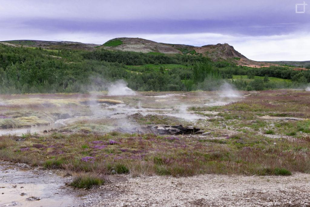 La terra che fuma in Islanda Circolo d'Oro