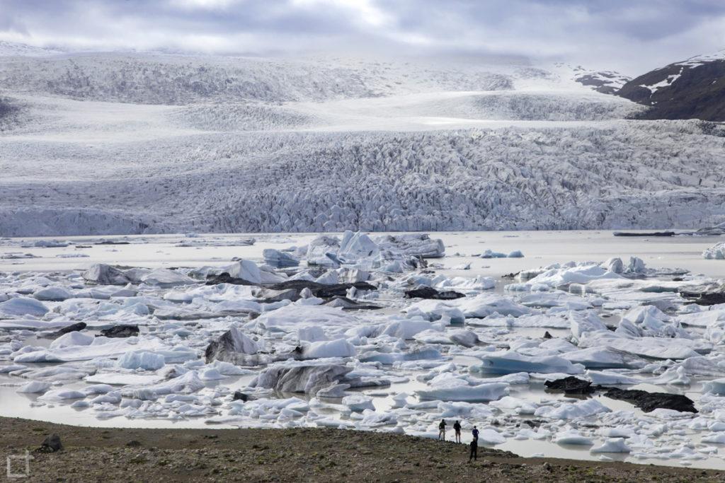 Laguna Glaciale Fjallsarlon da sopra