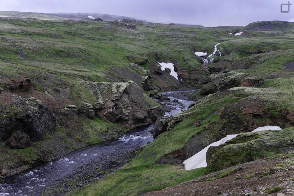 Neve Lungo il sentiero Laugavegur
