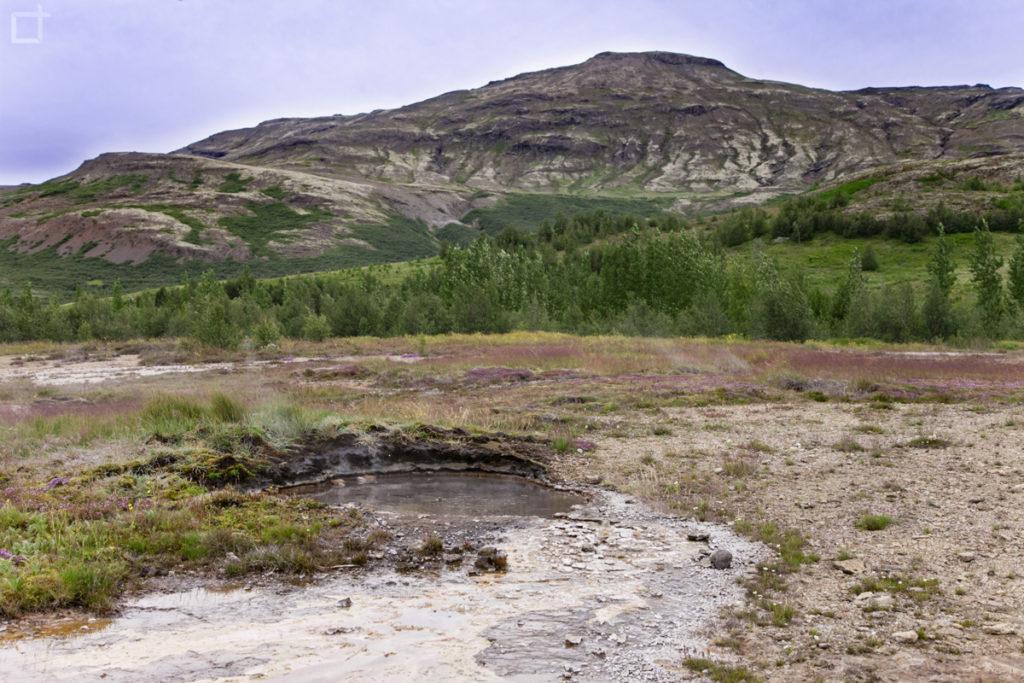 Panorama nella valle dei Geyser - valle di Haukadalur