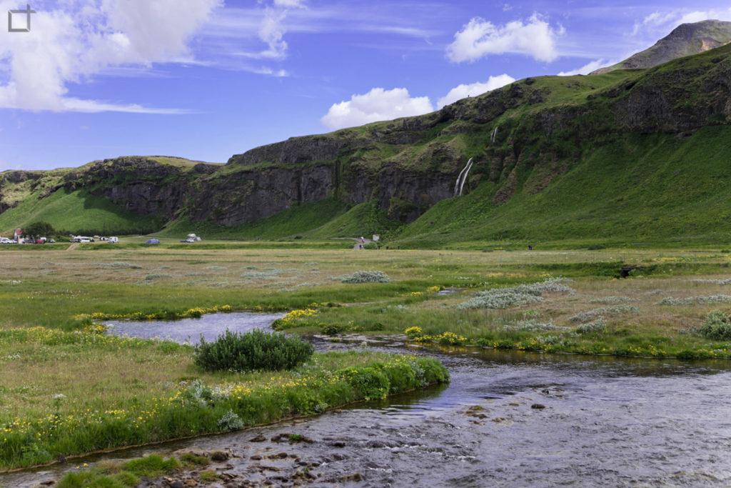 Panorama su Seljalandsfoss Sud Islanda