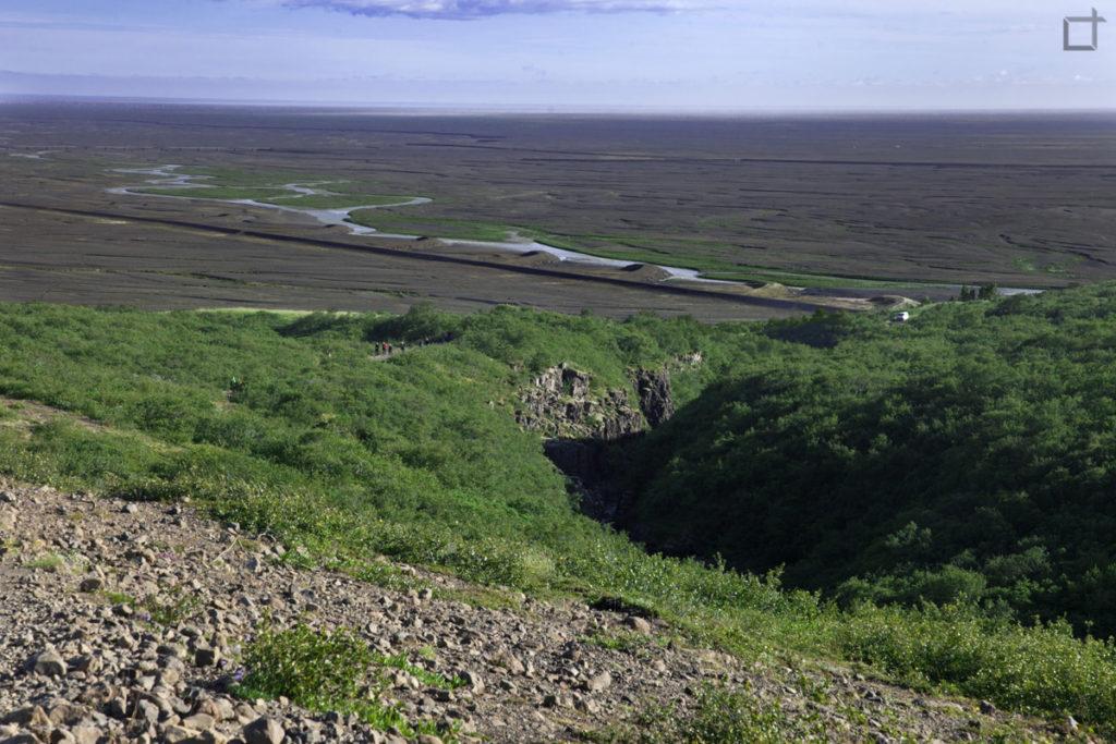Panorama sulla lava Islanda Meridionale