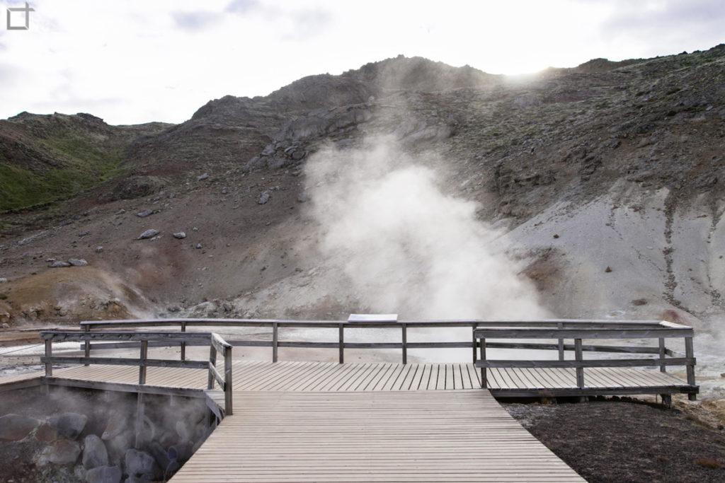 Passerelle di Legno - Sorgenti Solforose Krysuvik Seltun Islanda