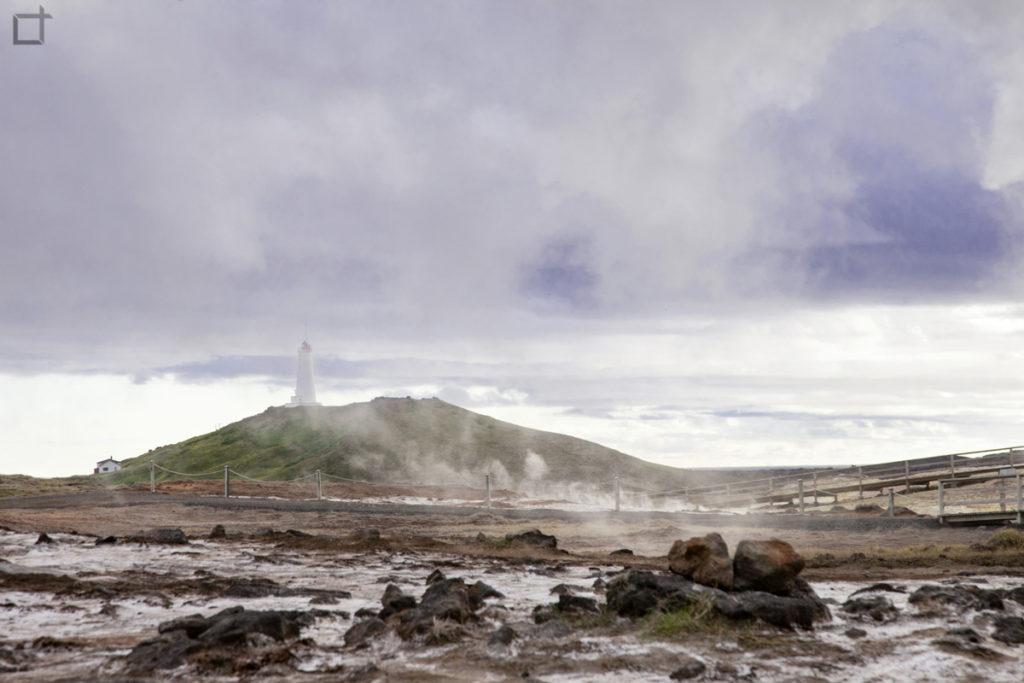 Reykjanesviti Faro Islanda e Area Geotermale di Gunnuhver