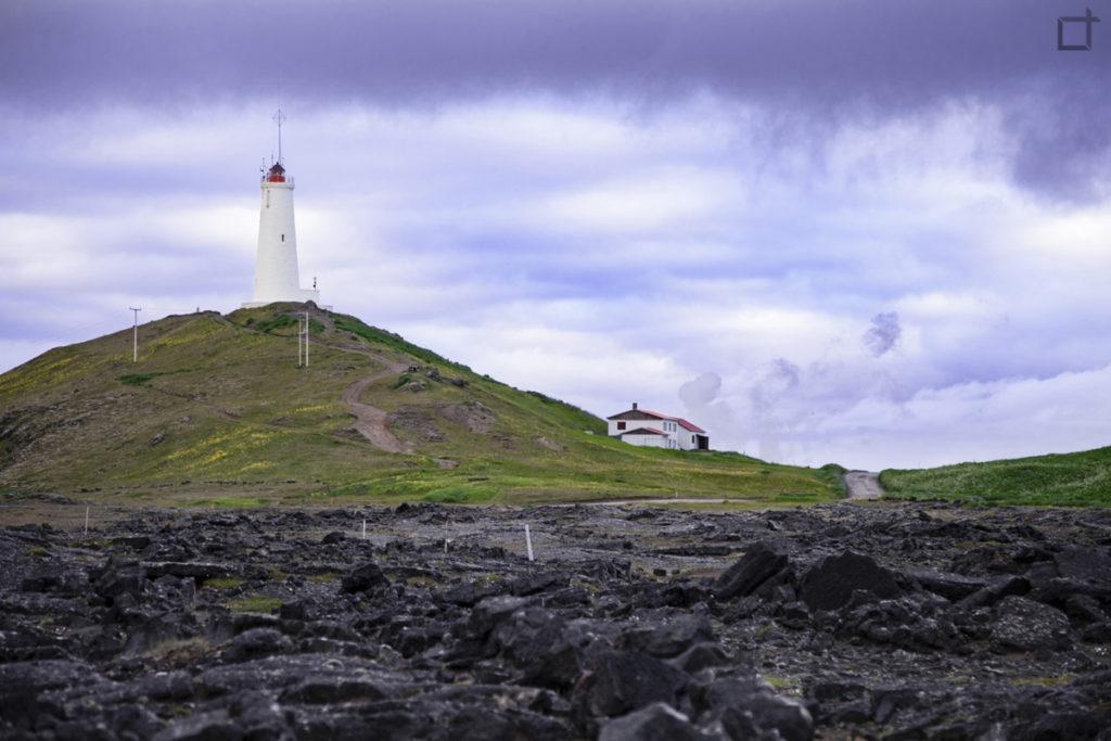 Reykjanesviti lighthouse in Iceland - near Reykjavik