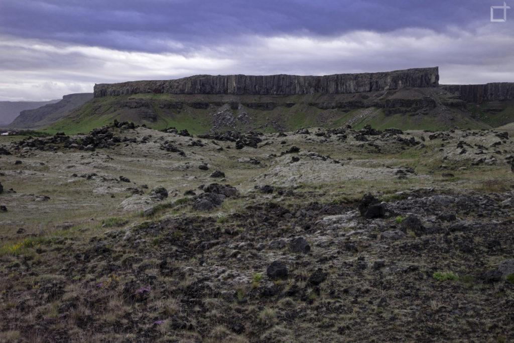 Roccia altopiani e lava