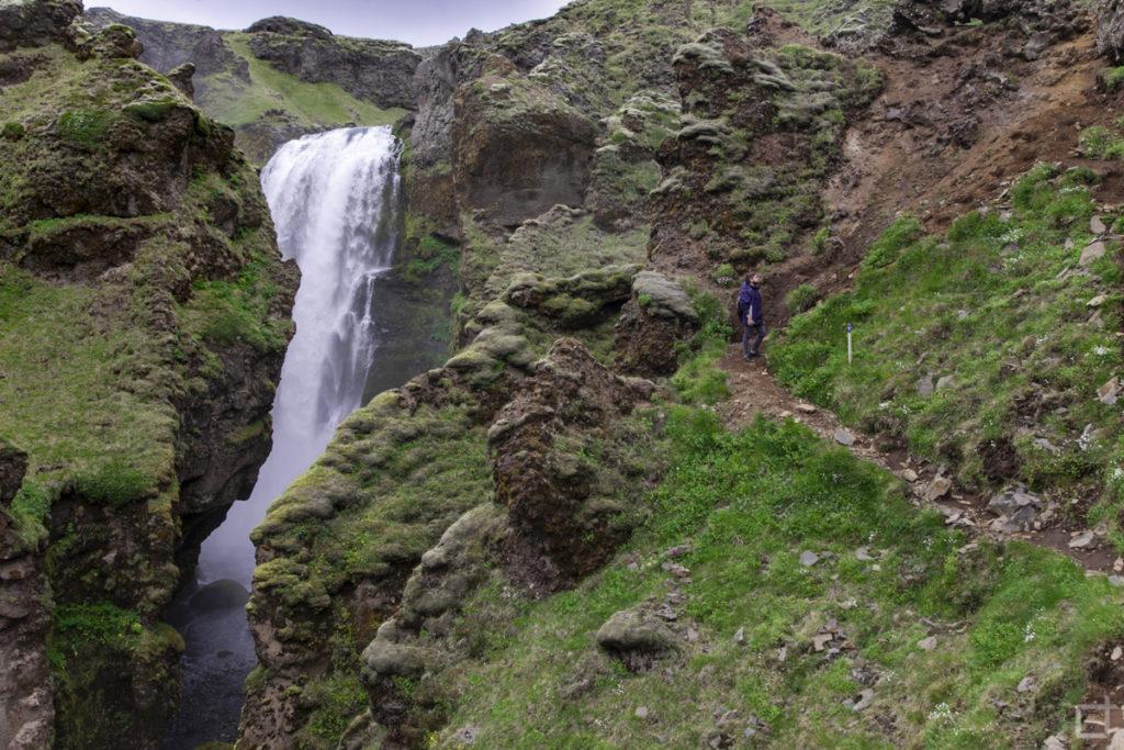 Salita pericolosa trekking Islanda