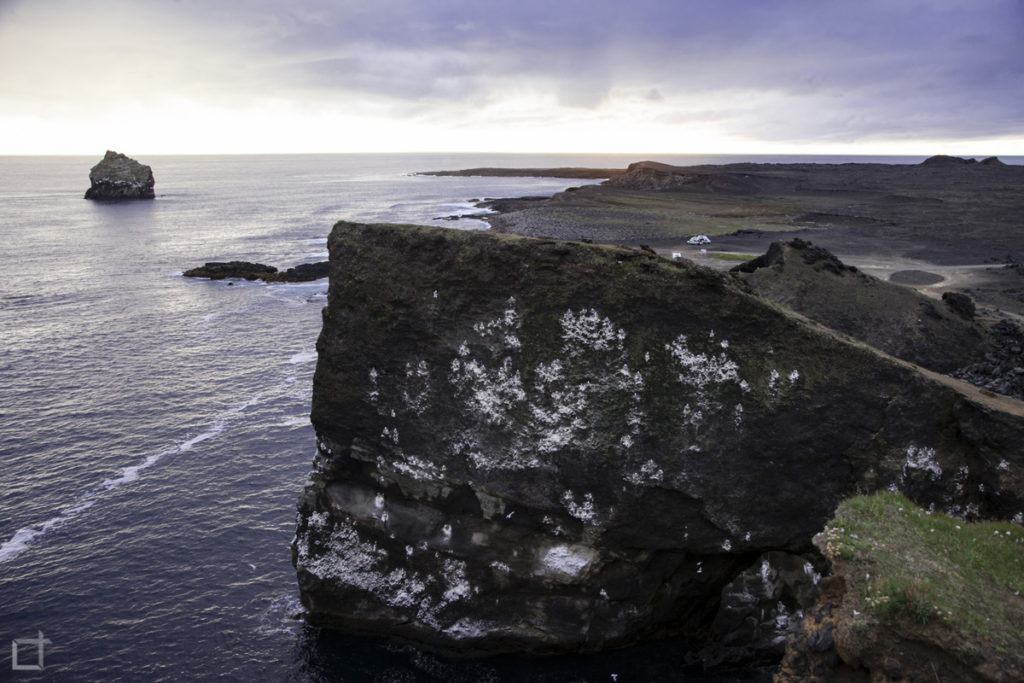 Scogliera di Valahnukur - tramonto sul mare - Islanda