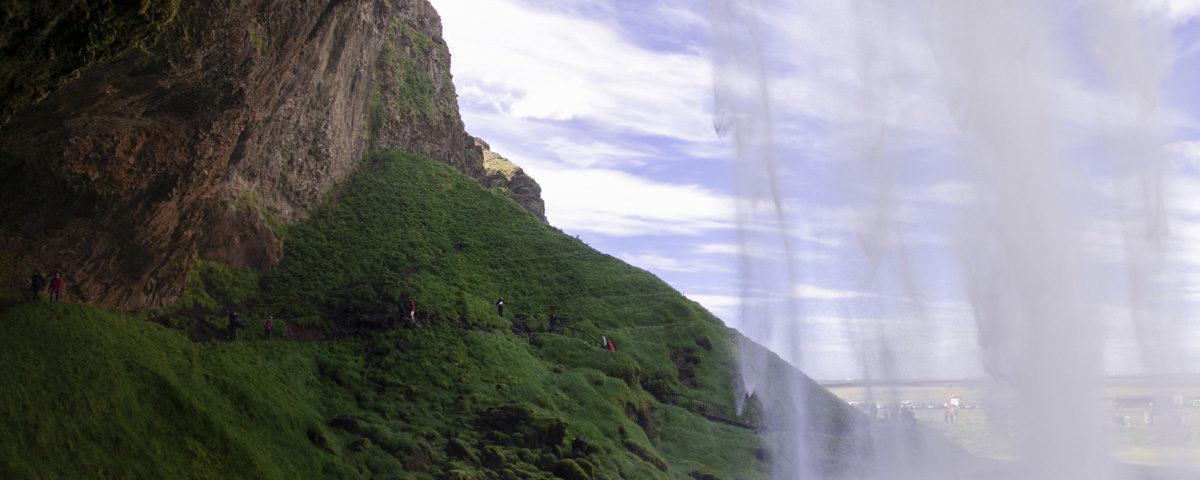 Seljalandsfoss Dentro alla Cascata Islanda