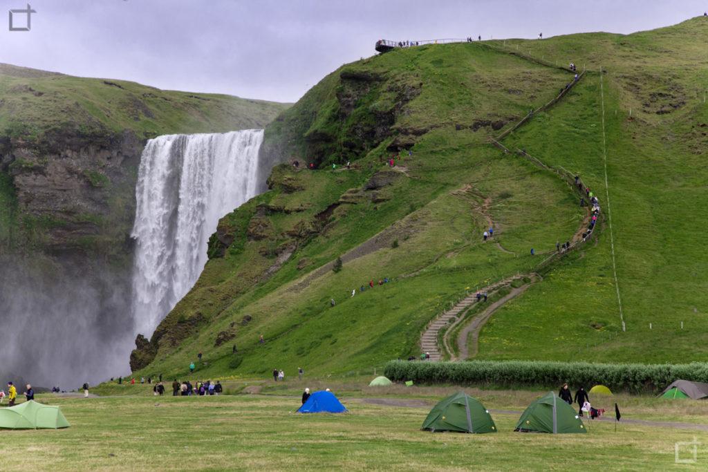 Skogafoss Cascata Islanda Campeggio
