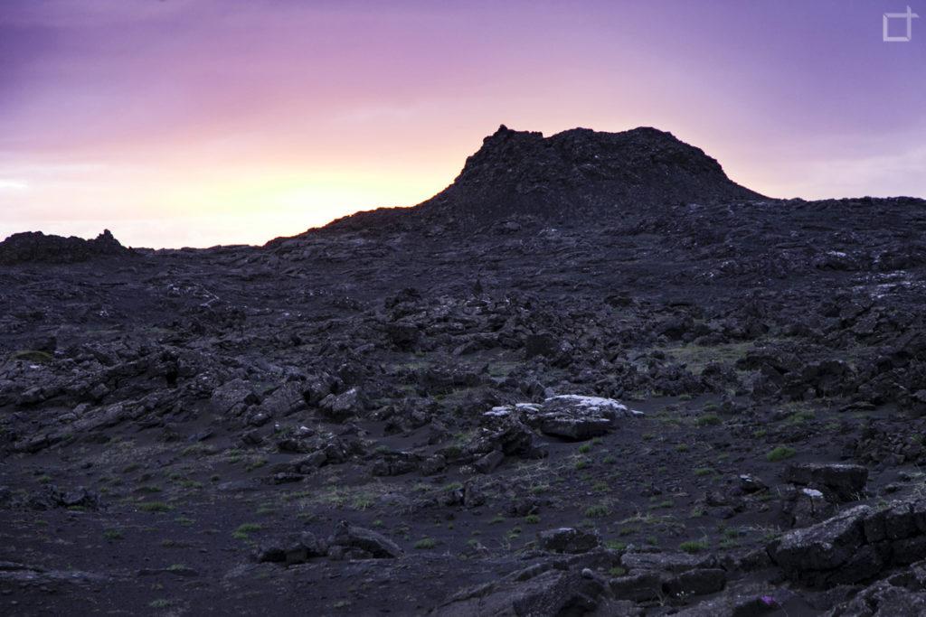 Stampar Cratere al Tramonto Islanda