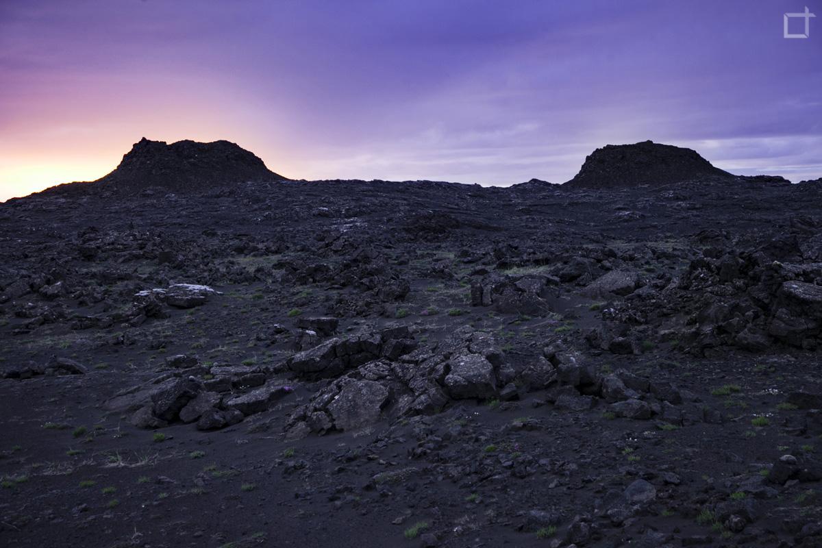Stampar Vulcani Islanda al Tramonto