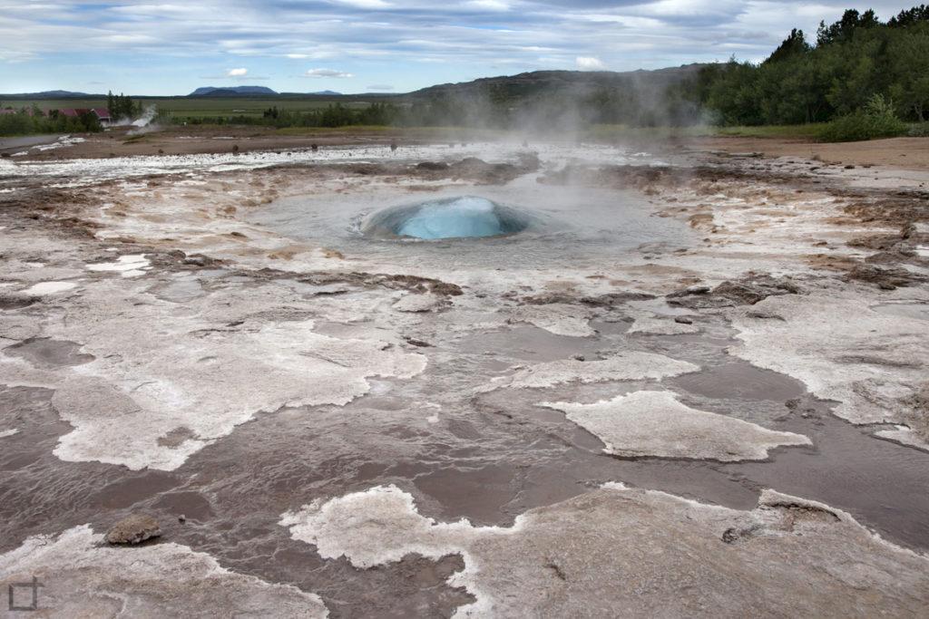Strokkur durante un eruzione