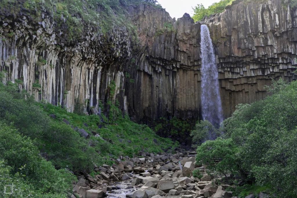 Svartifoss Cascata Nera Colonne di Basalto
