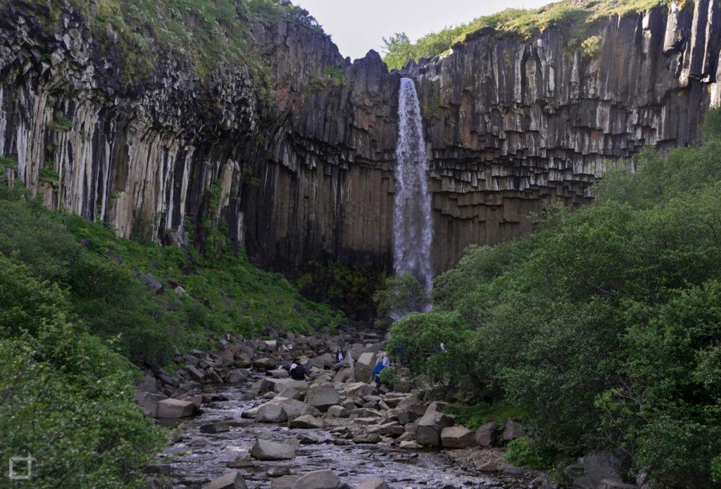 Svartifoss Cascata Nera Islanda