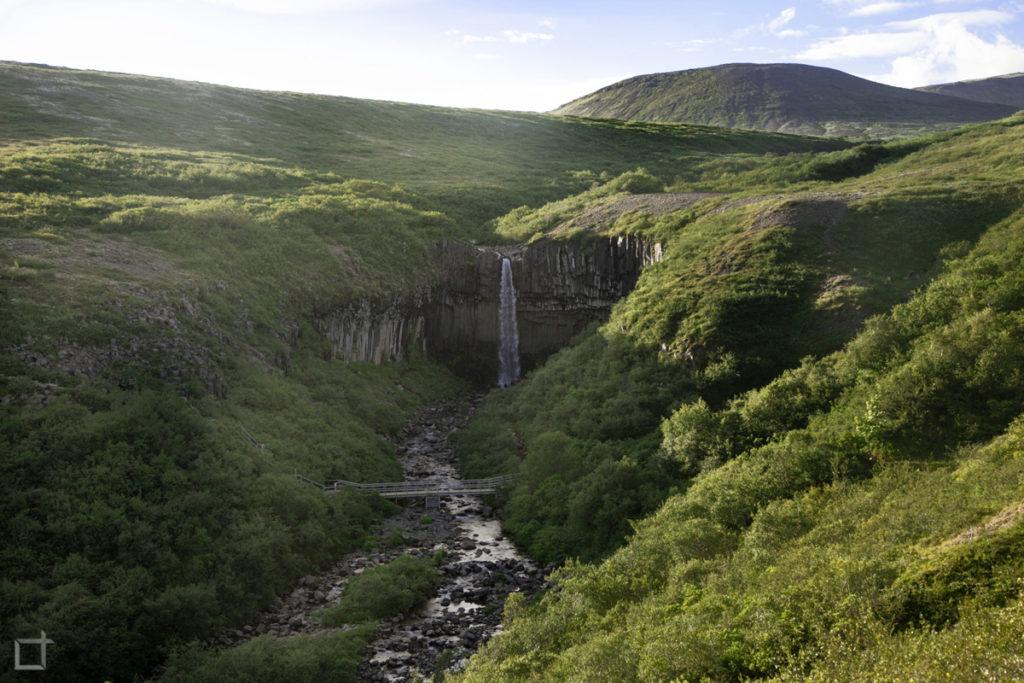 Svartifoss al Tramonto Islanda