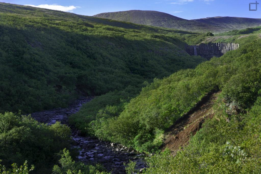 Svartifoss tra i monti dello Skaftafell