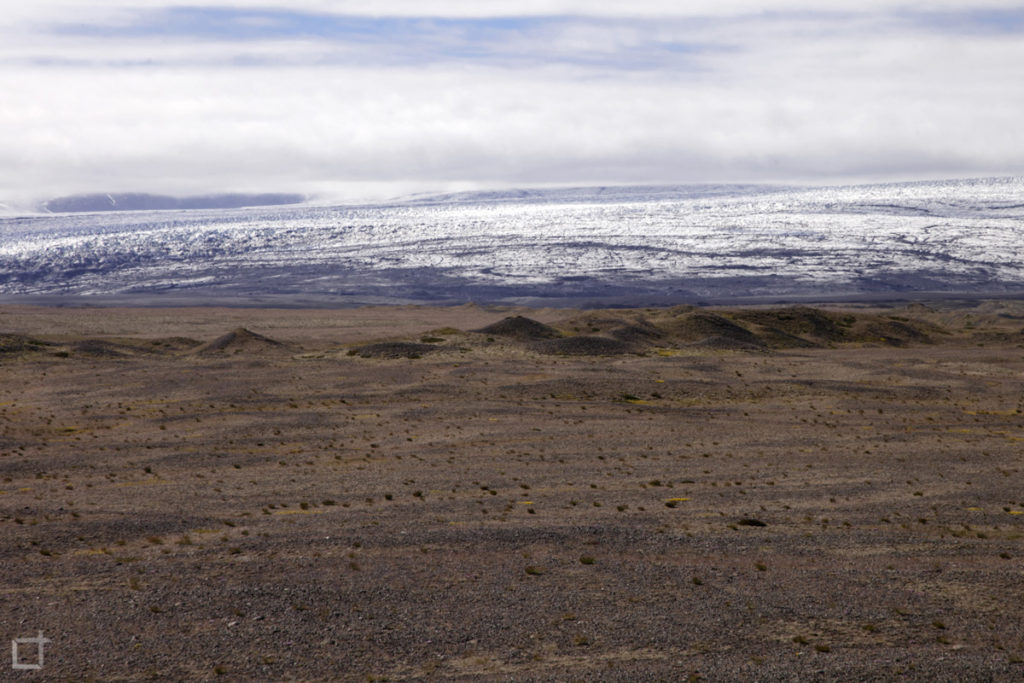 Terreno Brullo e Neve Islanda - Ghiacciaio Vatnajökull