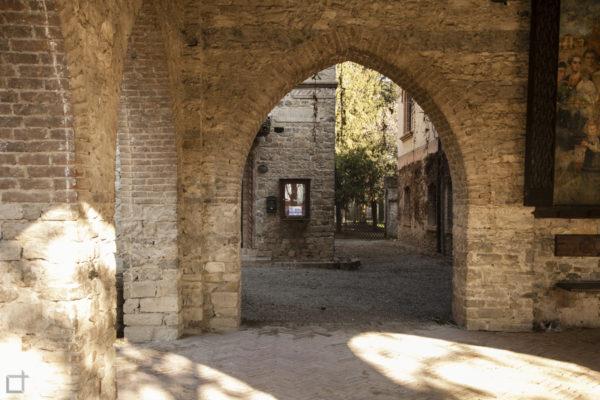 Scorcio borgo medievale piacenza
