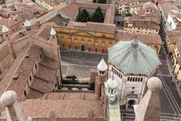 Sulla torre del duomo di Cremona